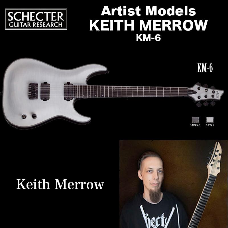 シェクター SCHECTER / KM-6 TWS   KEITH MERROW   キース メロウ 6弦 KM6 トランス・ホワイト・サテン(白) 送料無料