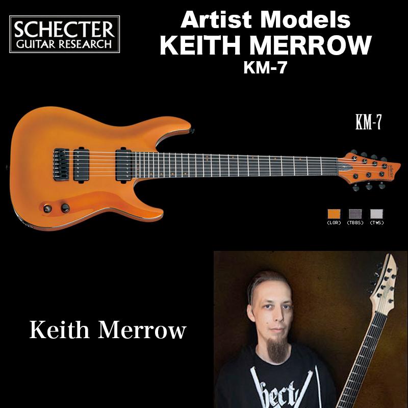 シェクター SCHECTER / KM-7 LOR | KEITH MERROW | キース メロウ 7弦 KM7 ランボ・オレンジ 送料無料