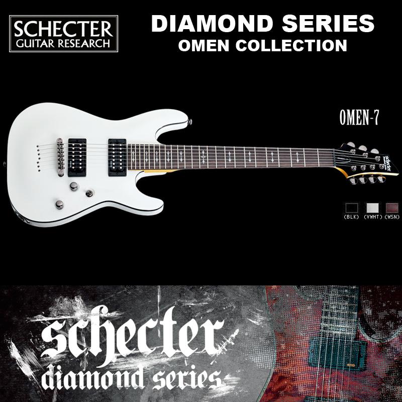 シェクター SCHECTER / OMEN-7 VWHT オーメン7 ホワイト AD-OM-7 7弦 ダイヤモンドシリーズ 送料無料