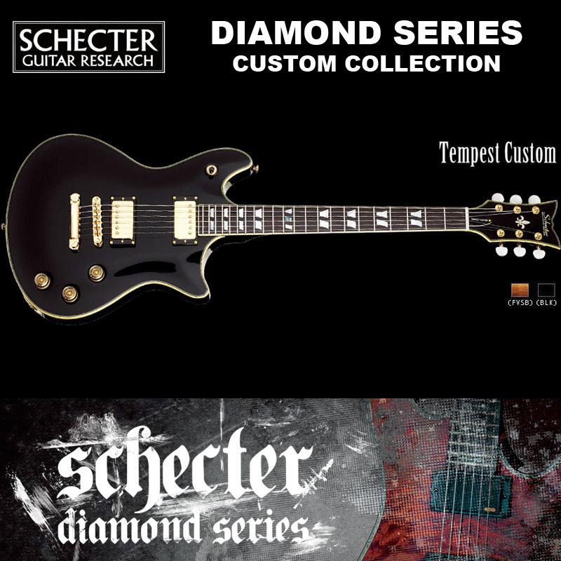 シェクター SCHECTER / Tempest Custom BLK テンペスト カスタム グロスブラック AD-TP-CTM 送料無料