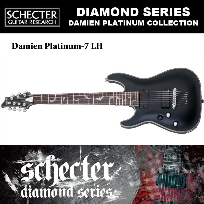 シェクター SCHECTER / DAMIEN PLATINUM-7 LH ダミアン プラチナ7 レフトハンド(左利き用)AD-DM-PTM-7 7弦ギター 送料無料