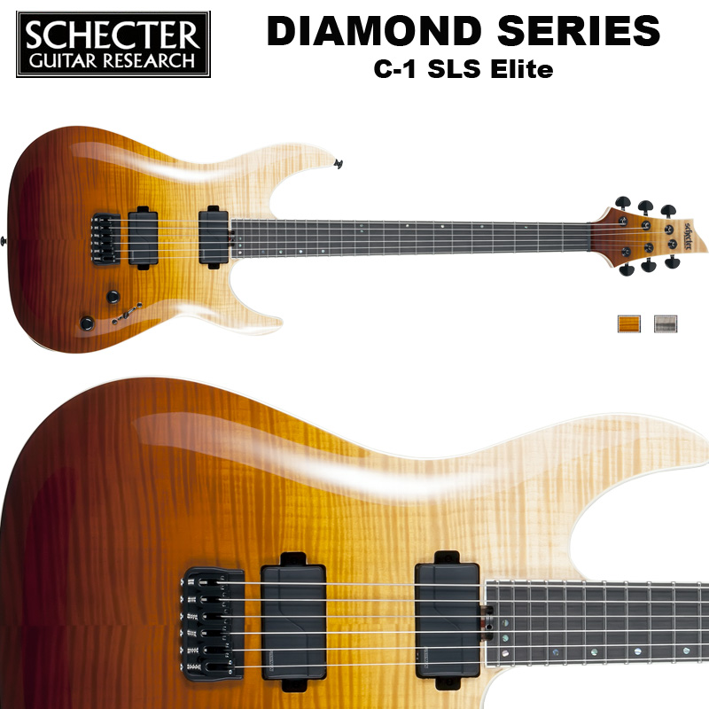 シェクター SCHECTER / C-1 SLS Elite | AD-C-1-SLS-EL | C1 SLSエリート アンティーク フェイド バースト ダイヤモンドシリーズ 送料無料