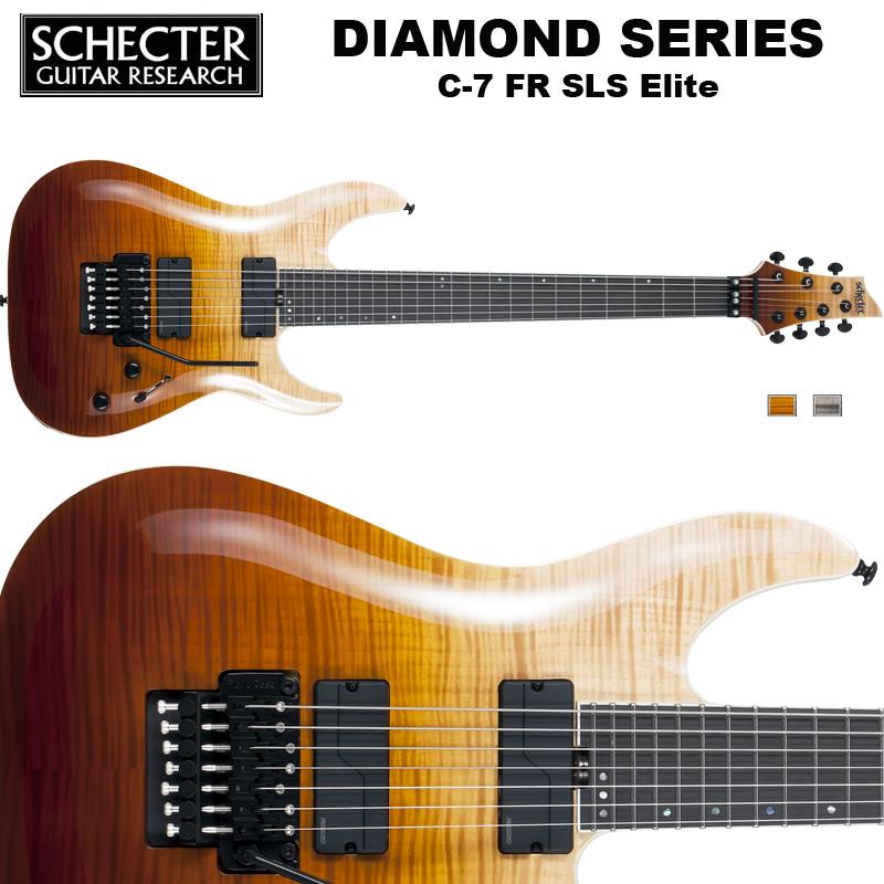 シェクター SCHECTER / C-7 FR SLS Elite | AD-C-7-FR-SLS-EL | C7 フロイドローズ SLSエリート 7弦ギター アンティーク ダイヤモンドシリーズ 送料無料