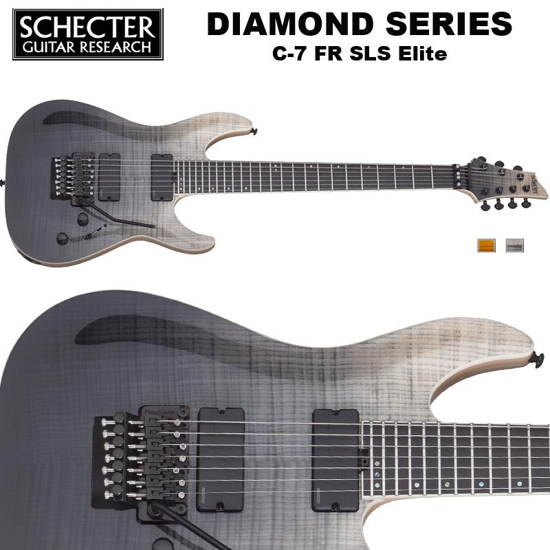 シェクター SCHECTER / C-7 FR SLS Elite | AD-C-7-FR-SLS-EL | C7 フロイドローズ SLSエリート 7弦ギター ブラック(黒) ダイヤモンドシリーズ 送料無料
