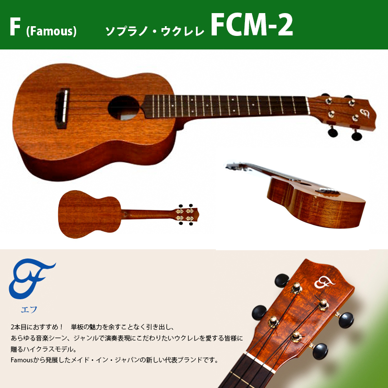 ウクレレ F(フェイマス) FCM-2 FCM-2 | | コンサート・ウクレレ ボディ:マホガニー材単板 ネック:マホガニー材(18フレット) ローズウッド指板, ピットスポーツ:1e755cf8 --- sunward.msk.ru