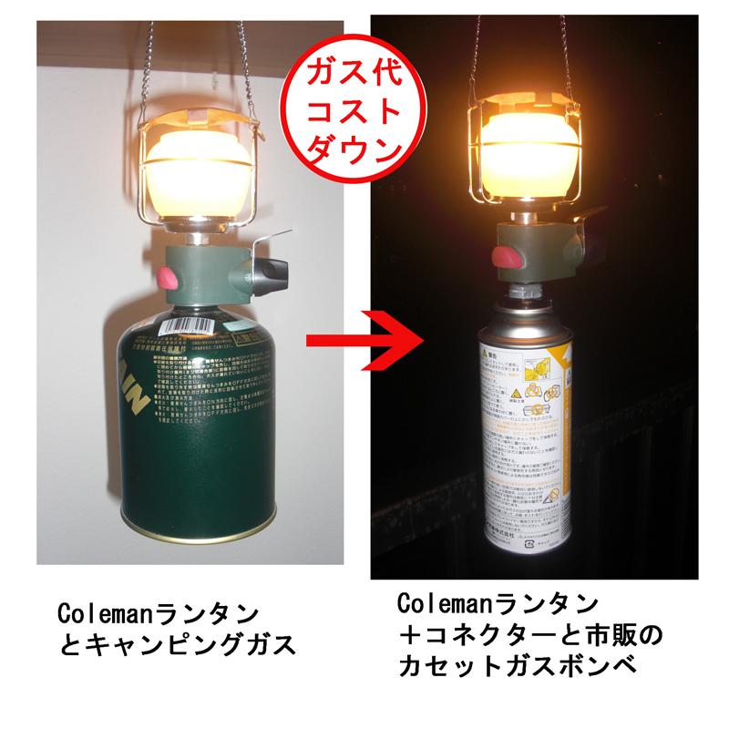 손전등의 카세트 가스 연결관