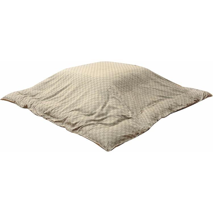 【送料無料】【こたつ布団 カバ―】インド綿100% こたつ布団カバー 『クレタ』 215×215【正方形 洗える おしゃれ】 ベージュ・ブラウン【TD】