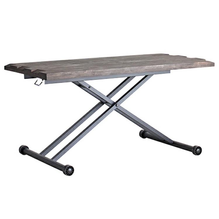 RESE リフティングテーブル ブラウン 50540630送料無料 ローテーブル テーブル カフェテーブル おしゃれ 昇降式 木 無垢材 ウッディ ビンテージ風 東馬 【TD】 【代引不可】