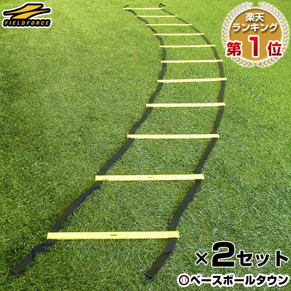 室内練習 瞬発力 日本正規品 アジリティーの強化に SAQトレーニング あす楽 野球 練習 2セット組 トレーニングラダー 6m スピードラダー フィールドフォース 連結可能 FST-600RN バスケットボール マニュアル付き サッカー 激安超特価 フィジカル フットサル
