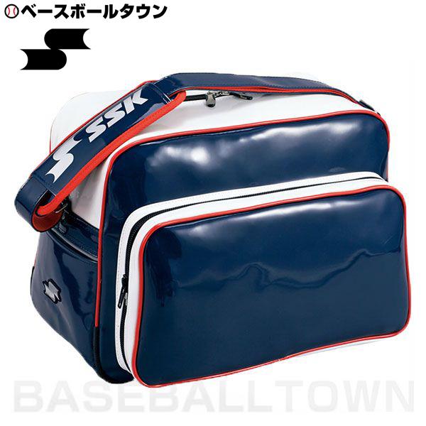 エスエスケー バッグ刺繍可 売り込み 有料 SSK ショルダーバッグ ネイビー×ホワイト×レッド RakutenスーパーSALE スーパーSALE 送料無料限定セール中 BA8000