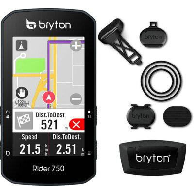 ロードバイク サイクルコンピューター ブライトン ライダー 750T トリプルケイデンスセット 税込 ポイントP20倍以上に増量中 Rider Bryton 驚きの値段