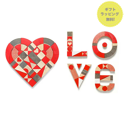 miller goodman ミラー グッドマン Heart Shapes ハートシェイプス 木製パズル