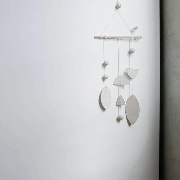 Sue Mobile by Bisou de Lou インテリアモビール 木製 ナチュラル シンプル 木 おしゃれ