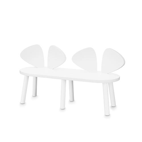 【送料無料】ベビーチェア 木製 キッズチェア 子ども椅子 Nofred ノーフレッド Mouse Bench 木製 キッズベンチ (ホワイト)