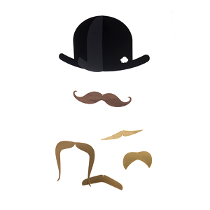 ドイツ発のデザイン性高いペーパーモビール 子供部屋や大人インテリアにも Mr.Moustache Gold JailTofta ヒゲのモビールゴールド ショッピング 18%OFF by