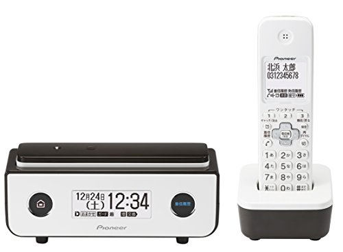 パイオニア TF-FD35W デジタルコードレス電話機 子機1台付き/迷惑電話防止 ビターブラウン TF-FD35W(BR)