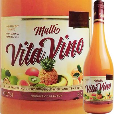 フルーツ100%でビタミン豊富 無着色 超目玉 無香料 甘くて飲みやすい女性に大人気のフルーツワイン ドクターディムース マルチ ヴィタ ヴィーノ GE33 フルーツワイン 4001486939002 750ml ドイツ 発泡性 全国一律送料無料 09001