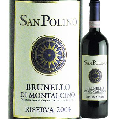 サン・ポリーノ ブルネッロ・ディ・モンタルチーノ・リゼルヴァ [2004] 4580168660095【12001】【送料無料】【イタリア】【赤ワイン】【IT27】