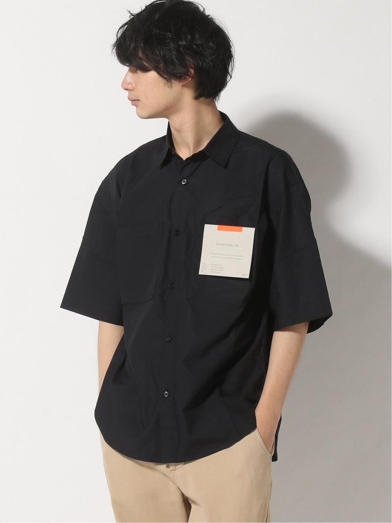 BC_SALE INHERIT SIMPLICITE メンズ シャツ ブラウス インヘリット サンプリシテ B.C STOCK 休日 Rakuten Fashion M SALE 高級 80スーピマワークオーバーシャツ ブラック 40%OFF ホワイト RBA_E ベージュ 半袖シャツ