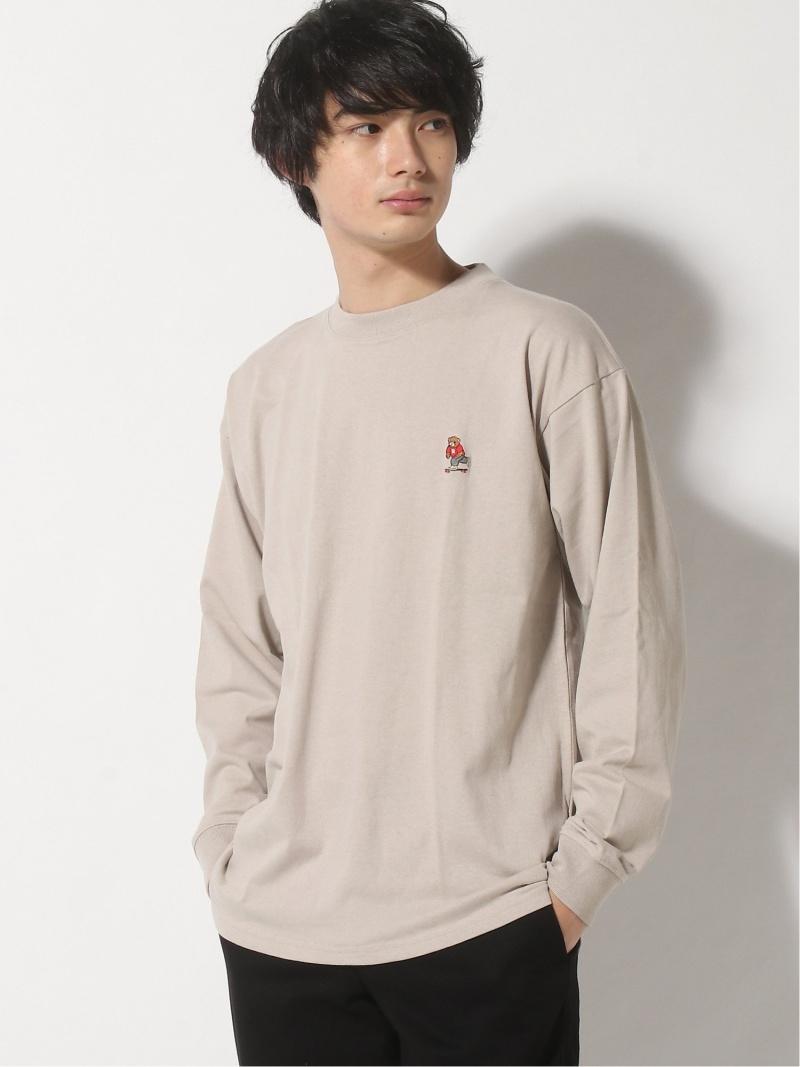 INHERIT SIMPLICITE メンズ カットソー インヘリット 品質検査済 サンプリシテ B.C STOCK Rakuten 新入荷 流行 ホワイト BEAR ブラック SKTロングスリーブT Fashion Tシャツ PLAY M グレー