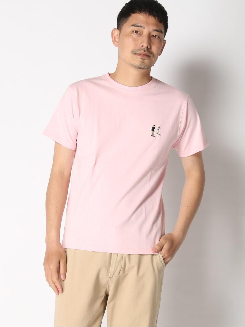 BC_SALE KW_30%OFF INHERIT 付与 SIMPLICITE メンズ カットソー インヘリット サンプリシテ B.C STOCK SALE Fashion SKATEワンポイントシシュウT 格安店 RBA_E M Rakuten 30%OFF ピンク Tシャツ