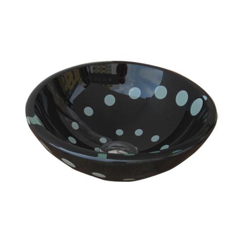洗面ボウル ガラス ラウンド Small 幅31×奥行31×高11cm INK-0406008H