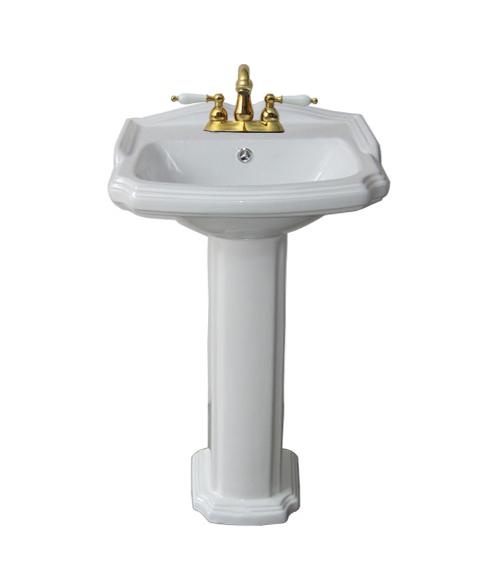 洗面台 足付 ペデスタルシンク 選べる混合水栓の4点セット PWセット60b INK-0505019HKset