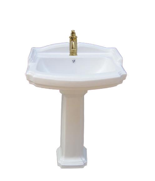 洗面台 足付 ペデスタルシンク 選べる混合水栓の4点セット PWセット70b INK-0505006HKset