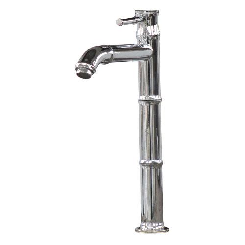 洗面水栓 蛇口 単水栓 シングルレバーハンドル シルバー(銀) バンブー 奥行3.5×吐水口高22.5cm INK-0302102H, 新潟市 bcc34dc7