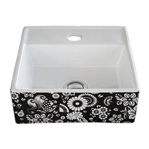 洗面ボウル 陶器 オンカウンター 置き型 幅28×奥行28×高10.5cm INK-0403252H