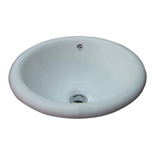 洗面ボウル 陶器 オーバーカウンタータイプ 埋め込み ラウンド 幅41cm INK-0401012H