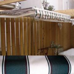 テント オーニング 日よけ 雨よけ ダークグリーン/ホワイト 【幅191×奥行200〜156×高23cm】 INK-K49