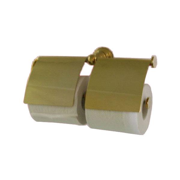 ペーパーホルダー 紙巻器 ダブルロール ゴールド(金) 幅29cm INK-0801031H
