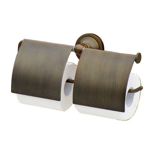 ペーパーホルダー 紙巻器 ダブルロール ブロンズ(古銅) 幅29.5cm INK-0801083H
