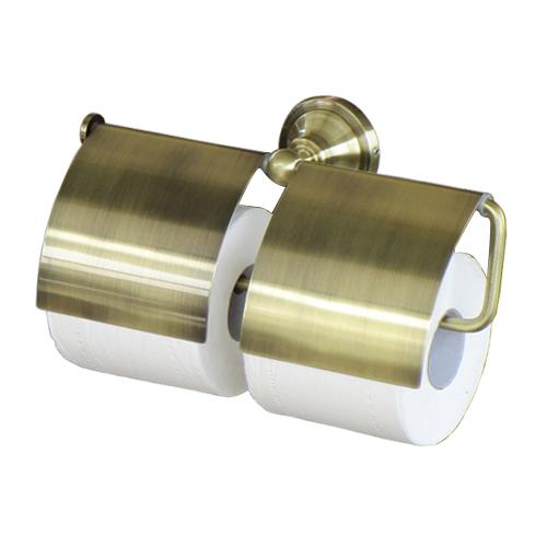 トイレット ペーパーホルダー 人気の定番 ゴールド 古金 アンティーク INK-0801125H 新品未使用 アンティークゴールド 幅29.5cm ダブルロール 紙巻器