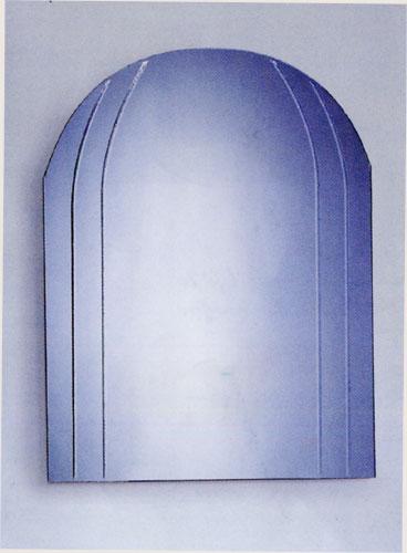 ミラー 鏡 洗面鏡 壁掛け スクエア/上部アーチ 幅60×高80cm BD05