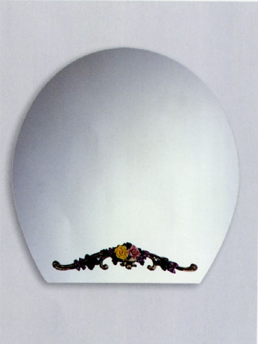 ミラー 鏡 洗面鏡 壁掛け アーチ [幅80×高80cm] DS09