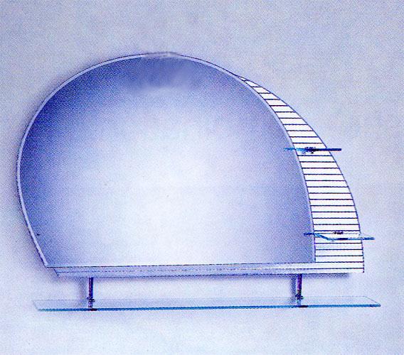 シンプルミラー 棚付き [幅100×高75cm] CJ01