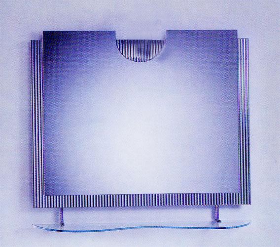 シンプル ミラー 鏡 棚付き [幅90×高80cm] CJ03