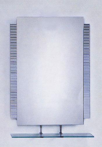 シンプル ミラー 鏡 棚付き 幅60×高90cm CJ10