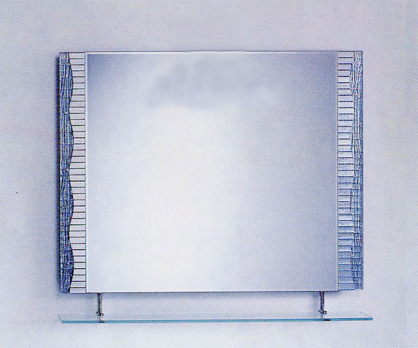 シンプル ミラー 鏡 棚付き [幅90×高80cm] CJ11