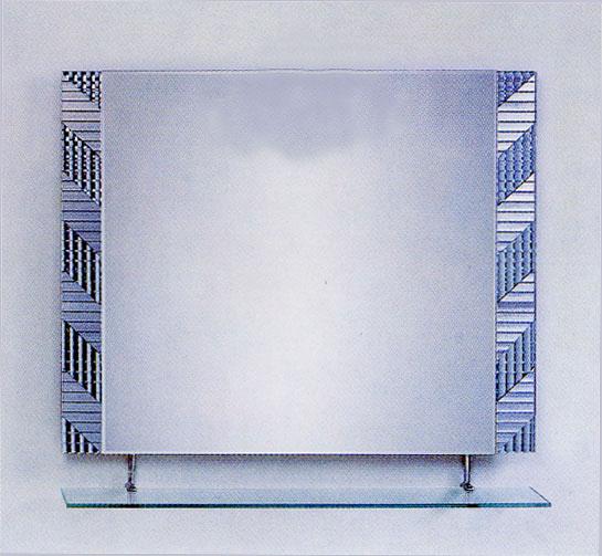 シンプル ミラー 鏡 棚付き [幅90×高80cm] CJ12