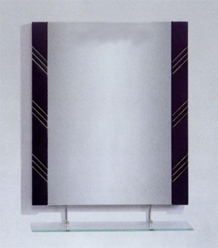 ミラー 鏡 洗面鏡 壁掛け 棚付き 幅60×高80cm MK06-600