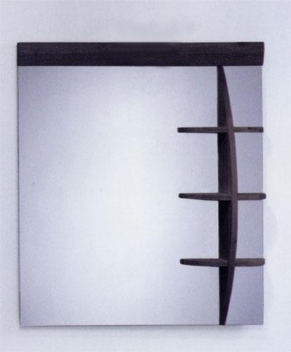 シンプル ミラー 鏡 棚付き 幅80×高90cm MK08