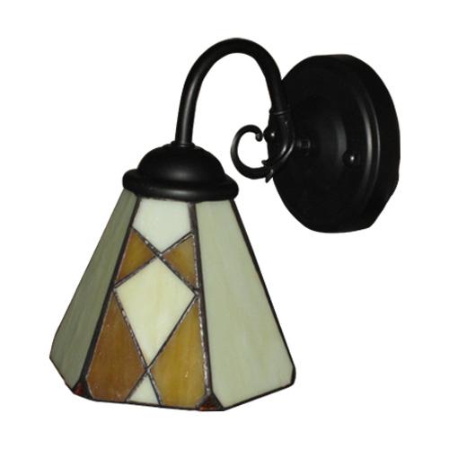 照明 壁 ウォールランプ 格安激安 ライト アンティーク INK-1001013H おしゃれ 全品最安値に挑戦 アイアン 幅15×高20cm ステンドグラス