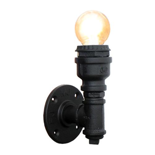 新作 人気 内祝い 照明 壁 ウォールランプ ライト アンティーク おしゃれ 奥行8.5×高14.5cm アイアン スチームパンク INK-1001070H ガス管