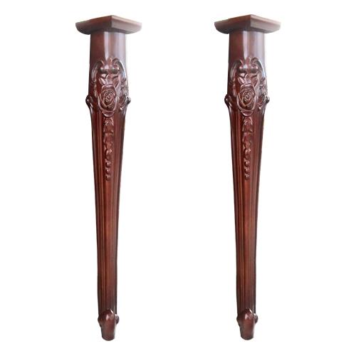 カウンター 足 海外輸入 2本セット 洗面 化粧台 木製 デコラティブ INK-0506031H 天板 ブラウン 驚きの値段で 幅10×奥行10×高70cm