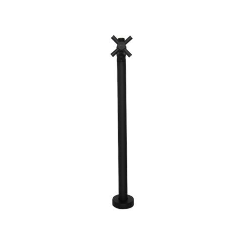 ストレート止水栓 床給水用 トイレ 洗面台 おしゃれ DIY ブラック INK-0304028G 床給水タイプ 正規激安 クロスハンドル 黒 卓越