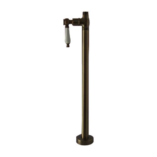 ストレート止水栓 床給水タイプ レバーハンドル ブロンズ(古銅) INK-0304040G