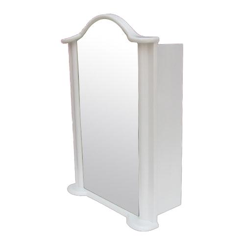 ミラーキャビネット 右開口 PVC製 洗面収納 ホワイト 幅52×高72.5cm INK-0702009H